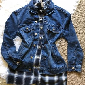 Windsor New flannel denim jacket